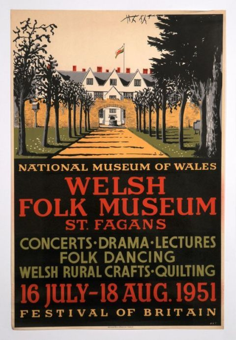 Poster of the programme at St Fagans Museum