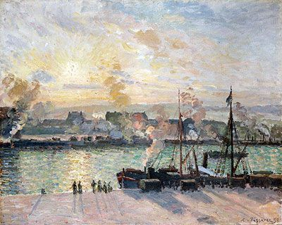 Camille Pissarro (1831-1903), Sunset, the Port of Rouen (Steamboats), oil on canvas, 1898.