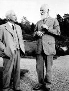 George Bernard Shaw and Thomas Jones at Gregynog.