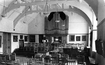 The Music Room at Gregynnog.