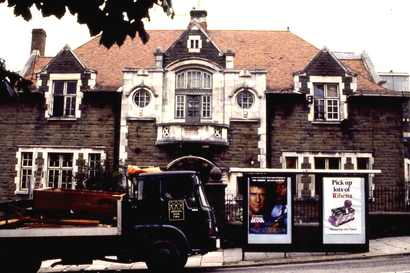 Oakdale Workmen's Institute prior to removal to St Fagans National Museum of History, c. 1989