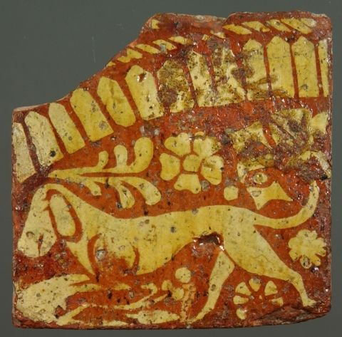 image: decorated medieval tile