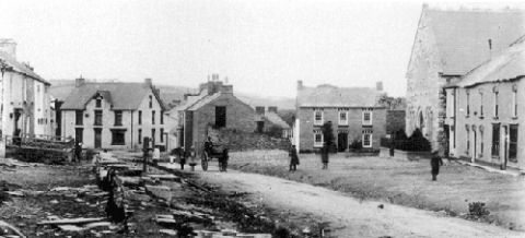 Cilgerran High Street, taken in 1905.