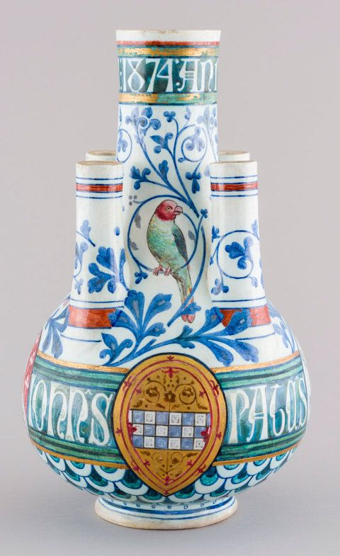 Tulip vase designed by William Burges, 1874