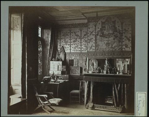 The office in William Burges's chambers, 15 Buckingham Street, 1876 © Victoria and Albert Museum, London