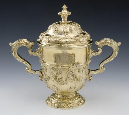 Silver Cup and Cover, Paul Crespin, 1733