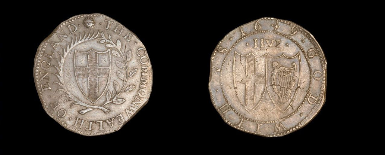 Commonwealth of England, half crown (2s 6d), 1649