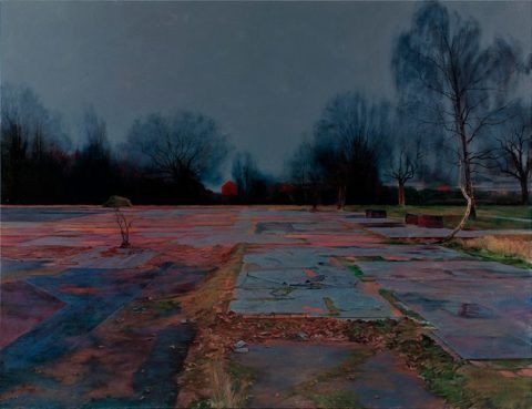 The End of Care, enamel painting by George Shaw