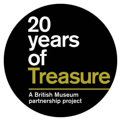 This is the logo for the '20 years of Treasure' competition, run by the British Museum and the Daily Telegraph.
