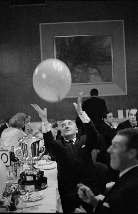 Retired gentleman at the MG Car owners Ball 1967 Copyright David Hurn Magnum Photos