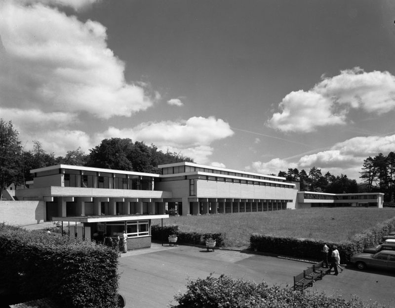 The Main Building during the 1970s.