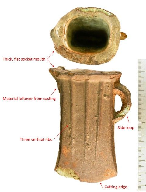 Terminology for different parts of a South Wales socketed axe (courtesy of the Portable Antiquities Scheme)