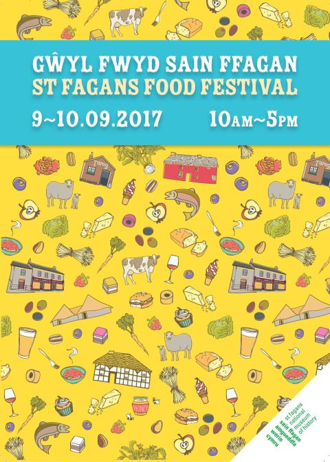 St Fagans Food Festival poster 2017