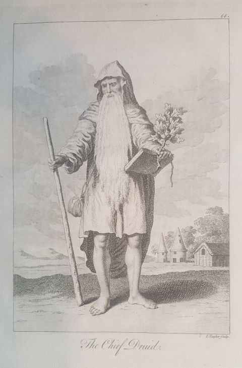 Druid image from 1766 edition of Mona Antiqua Restaurata