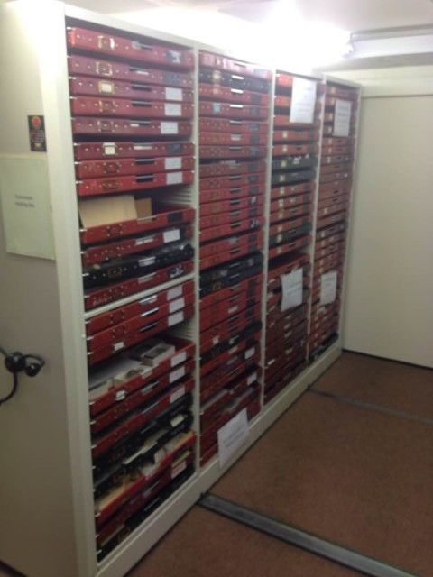 photo showing a large cabinet full of specimen drawers
