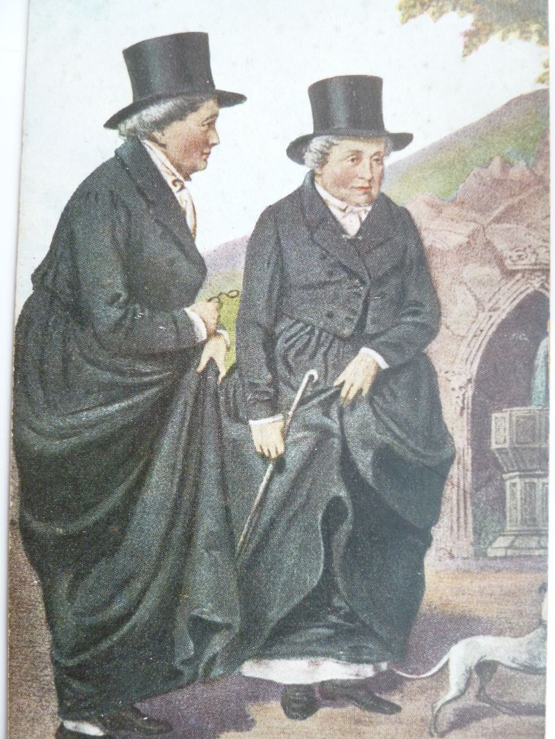 The 'Lynch' portrait of Lady Eleanor Butler and Sarah Ponsonby, pirated from the earlier 'Library' portrait and distributed on a mass scale. (c) Norena Shopland