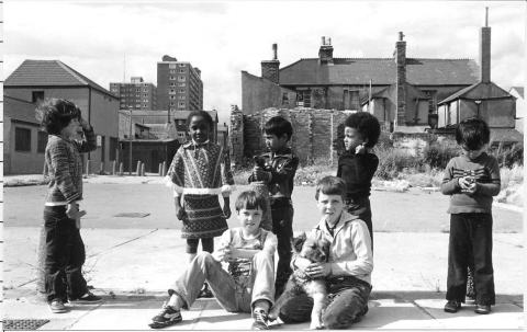 Image: Children playing in Butetown Cardiff 1979