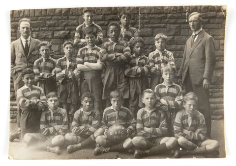 Image: Pupils of South Church Street School, Butetown, Cardiff, 1922-23