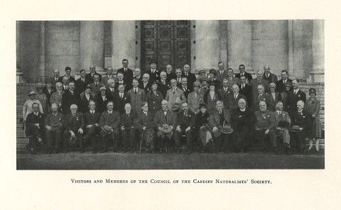 Cardiff Naturalists' Society visit to National Museum Wales in 1927 as part of their Diamond Jubilee celebrations