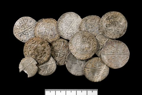 A collection of 14th and 15th century silver coins