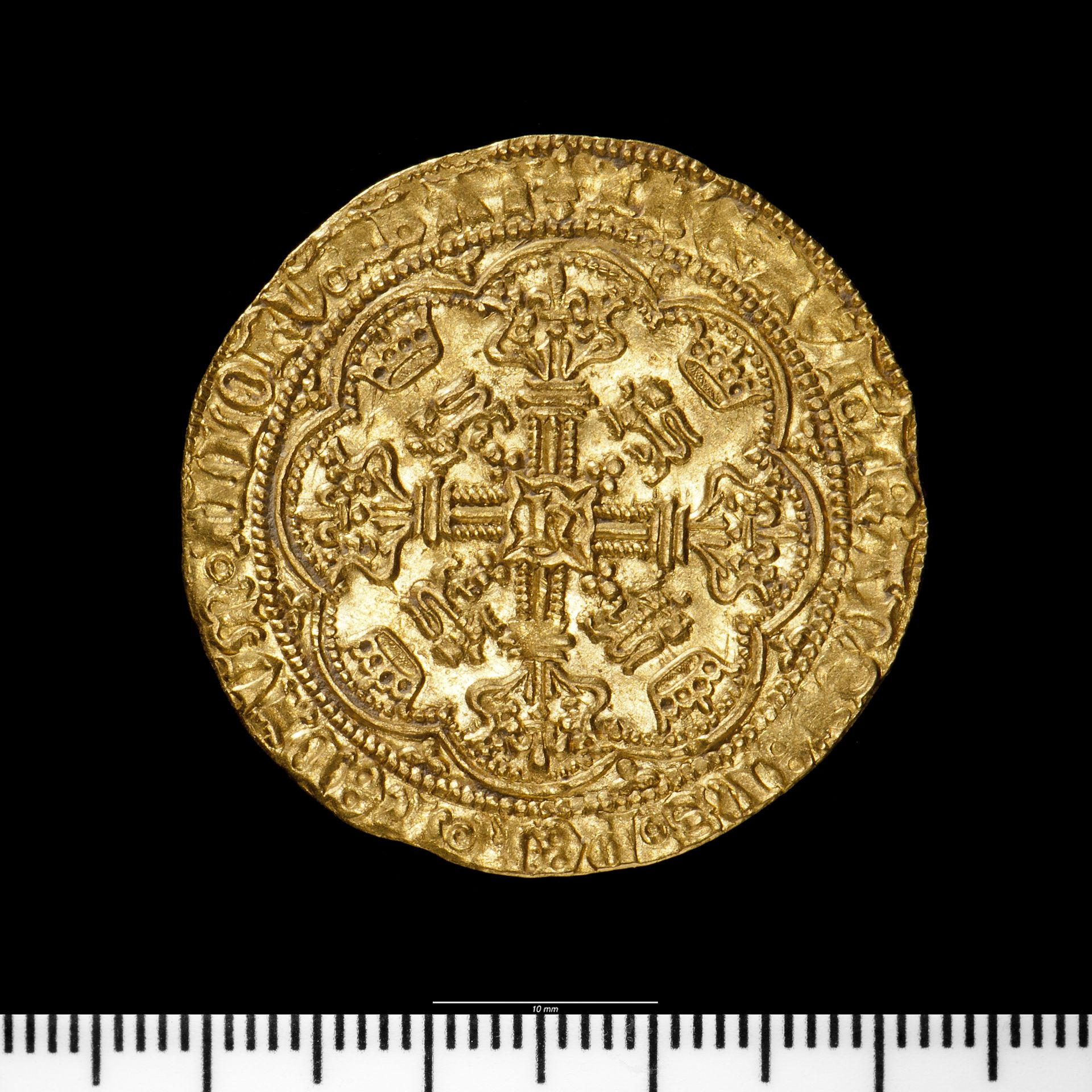 A picture of a medieval gold coin
