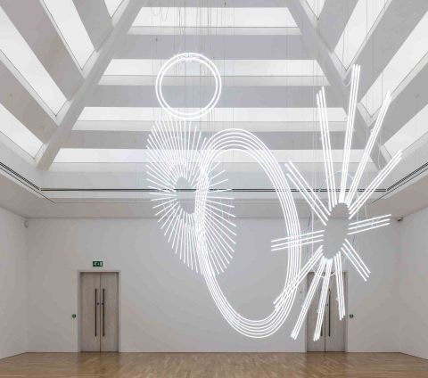 sculpture by Cerith Wyn Evans