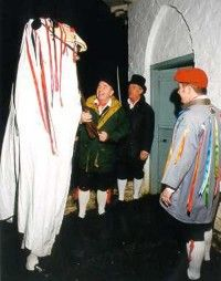 The Mari Lwyd in St Fagans.