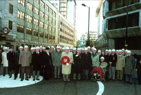 Bevin Boys attending the Remembrance Parade in London on the 14th November 2004