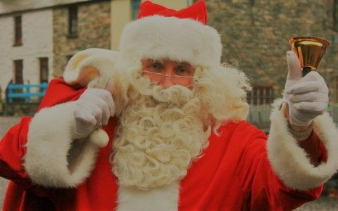 Santa at the National Slate Museum Llanberis