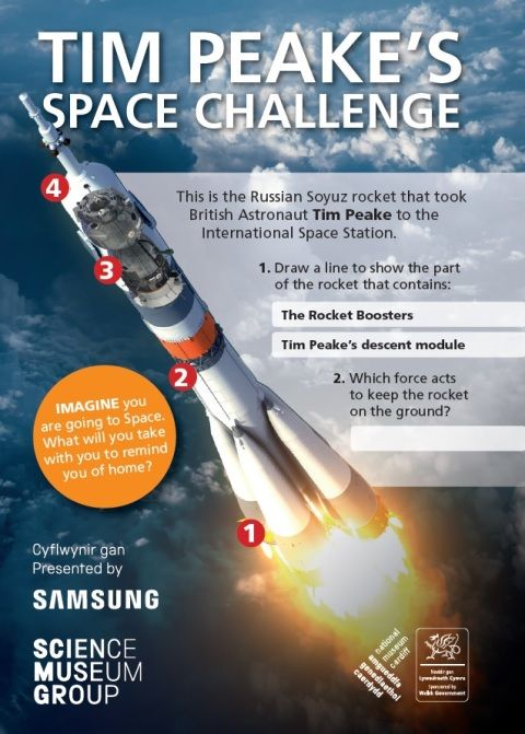 Front cover of the Tim Peake Space Challenge resource