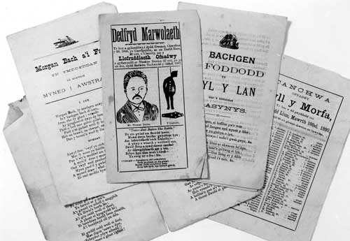 Printed Ballad Sheets from the Museum's Collections.