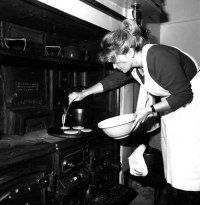 Making Pancakes (from the Museum's Archives).