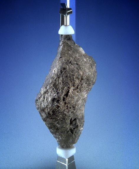 Moonrock displayed at National Museum Cardiff.