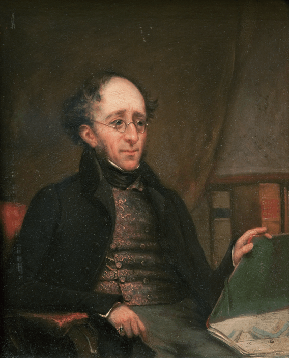 Henry Thomas De la Beche (1796-1855), founder of the British Geological Survey, about 1841.