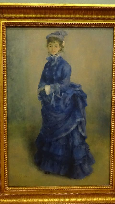 Photograph of the renoir painting La Parisienne as it appears in the gallery in National Museum Cardiff.