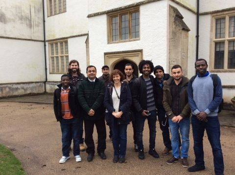image: Photograph of Welsh learners outside St Fagans Castle