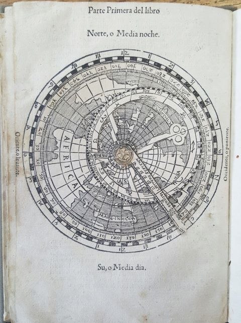 Volvelle in Cosmographia by Peter Apian