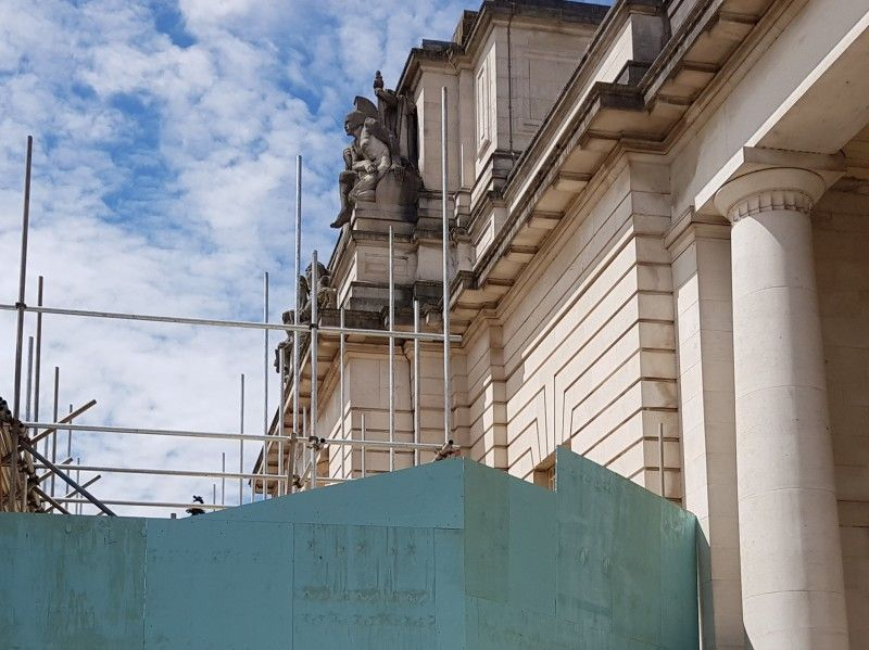 Fixing the roof of National Museum Cardiff