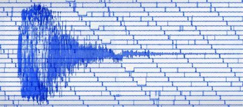 A scan from the seismograph at Na