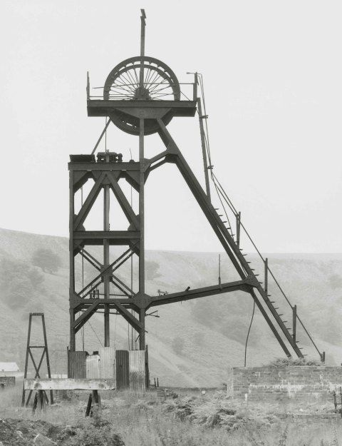A black and white photo of a colliery in Pontypool, South Wales
