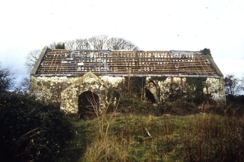 St Teilo's Church before dismantling
