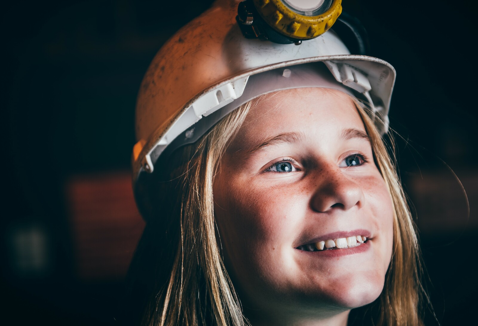 Young person at Big Pit