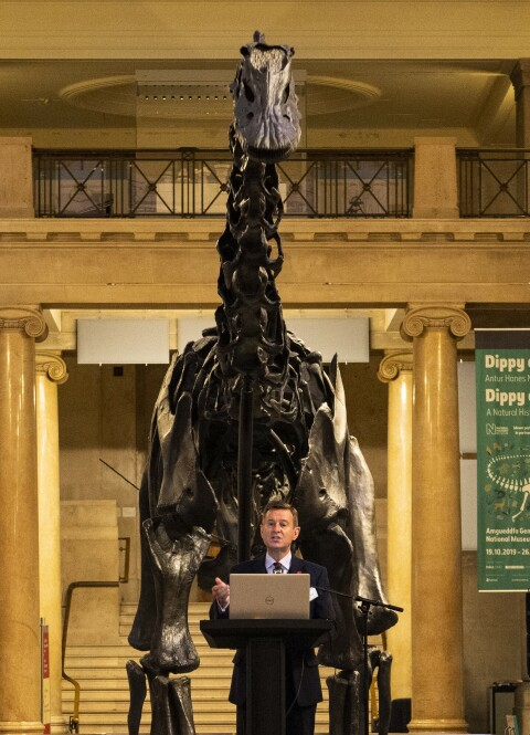 Breakfast Business Meeting Roger Lewis with Dippy