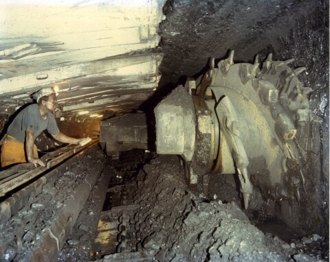 Welsh coal face in the 1980s