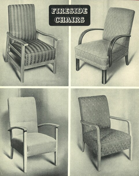 Page from utility furniture catalogue, 1947