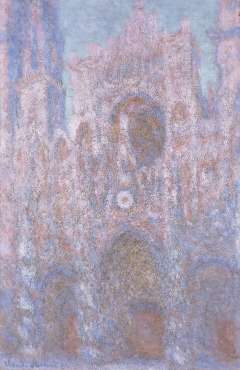 Claude Monet (1840–1926); Rouen Cathedral: setting sun (Symphony in Grey and Pink), 1892–4