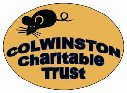Colwinston Charitable Trust logo, orange logo with black mouse and the words Colwinston Charitable Trust