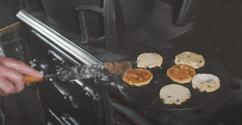 Welsh Cakes on the griddle