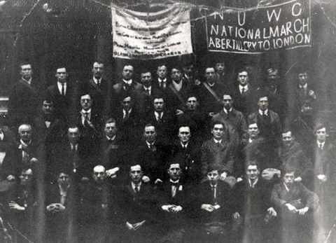 Abertillery Members of the Hunger March, 1927