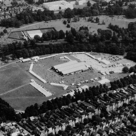 1938 Cardiff Eisteddfod from the air.